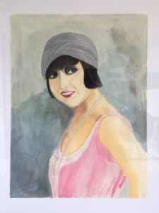 Akvarel 65 x 85 cm - 2200 kr.